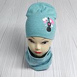 """М 4560. Комплект для девочек  шапка двойная и хомут """"скрипка"""" Vivatricko, 3-8 лет, разные цвета, фото 3"""