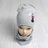 """М 4560. Комплект для девочек  шапка двойная и хомут """"скрипка"""" Vivatricko, 3-8 лет, разные цвета, фото 6"""