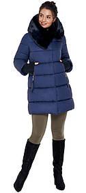 Куртка женская зимняя синего цвета модель 31027