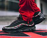 Кросівки N!ke Air Max 97 Чорні Найк Чоловічі (розміри: 42,43,44,45) Відео Огляд, фото 3