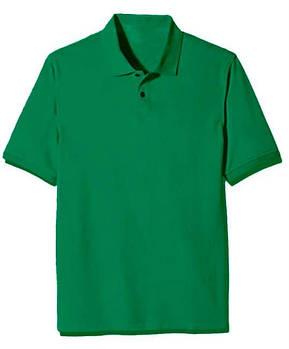Футболка поло однотонна чоловіча, колір зелений
