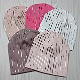 """М 4557. Шапка подвійна для дівчинки """"дощик"""" Vivatricko, 3-10 років, різні кольори, фото 6"""