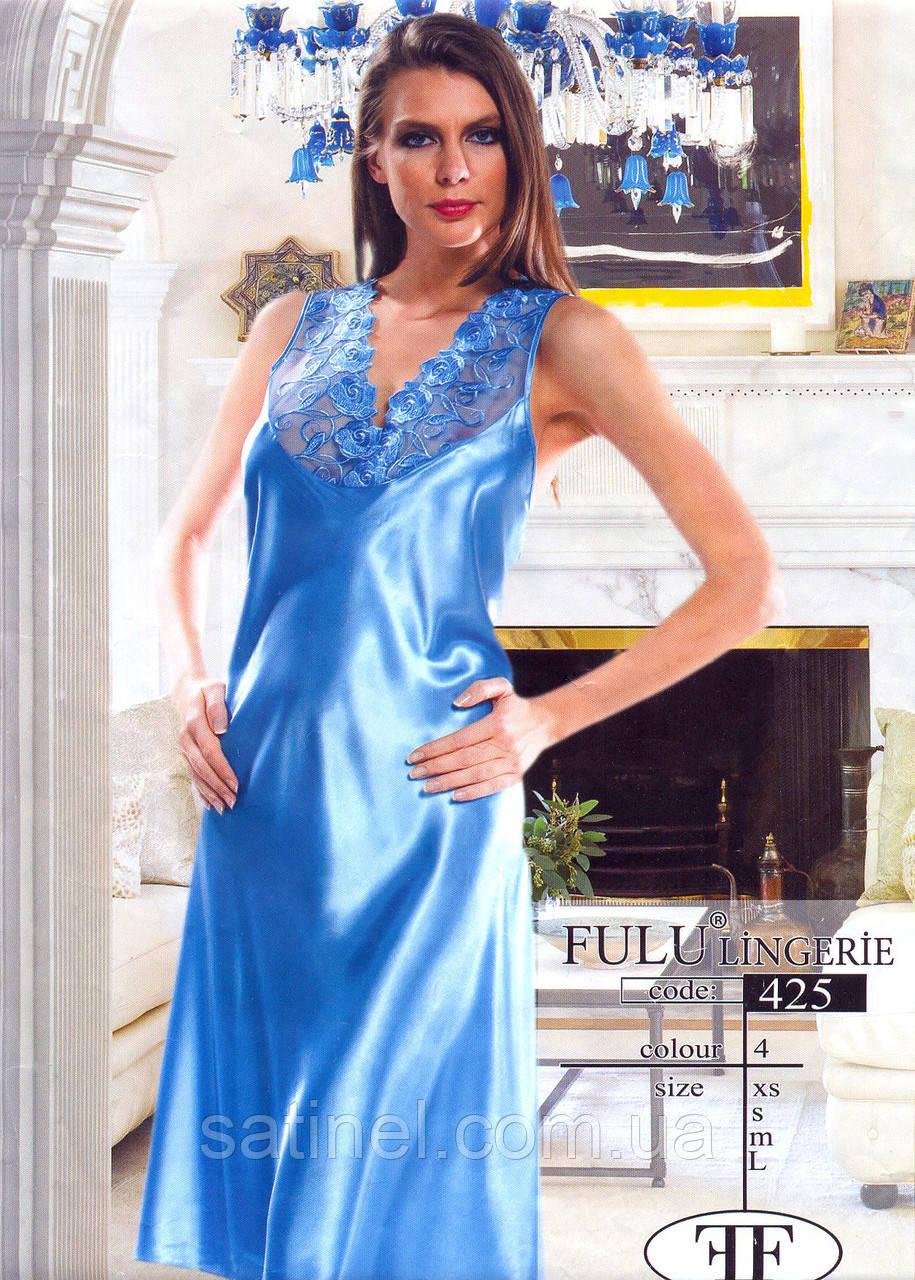 35f479f79f81116 Атласная ночная сорочка длинная FULU 425, цена 390 грн., купить в  Хмельницком — Prom.ua (ID#195613385)