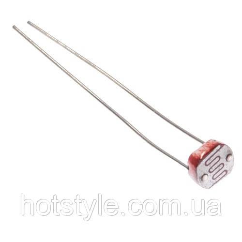 Фоторезистор, датчик освещенности 5мм GL5528 5528 для Arduino, 102743