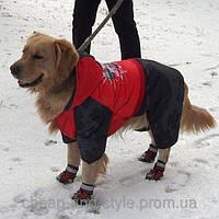 """Зимний комбинезон для собак крупных пород """"Камуфляж"""". Одежда для собак."""