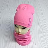 """М 4541. Комплект для девочек одинарный шапка и хомут """"ROSE"""" Vivatricko, 3-8 лет, разные цвета, фото 2"""