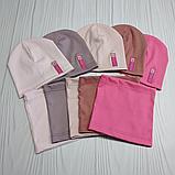 """М 4541. Комплект для девочек одинарный шапка и хомут """"ROSE"""" Vivatricko, 3-8 лет, разные цвета, фото 6"""
