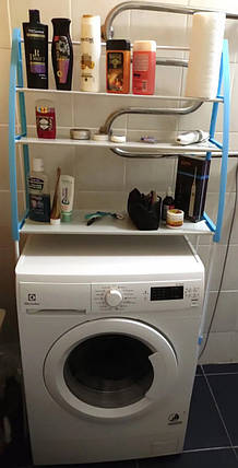 Полиця-стелаж підлогова над пральною машиною WM-63 Рожева, фото 2