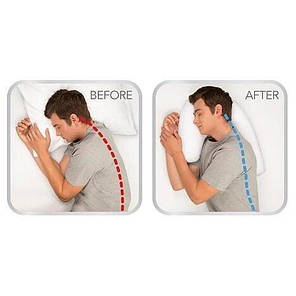 Ергономічна ортопедична подушка Side Sleeper Pro з отвором для вуха, фото 2