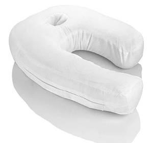 Эргономичная ортопедическая подушка Side Sleeper Pro с отверстием для уха, фото 2