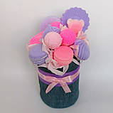 Мило букет мильних солодощів квіткова композиція з мила ручної роботи мильний букет подарунок на 8 березня, фото 9