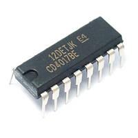 Чип CD4017BE CD4017 DIP16, Счетчик делитель десятичный декадный, 102478