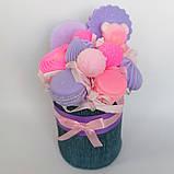 Мило букет мильних солодощів квіткова композиція з мила ручної роботи мильний букет подарунок на 8 березня, фото 7