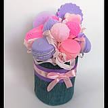 Мило букет мильних солодощів квіткова композиція з мила ручної роботи мильний букет подарунок на 8 березня, фото 6