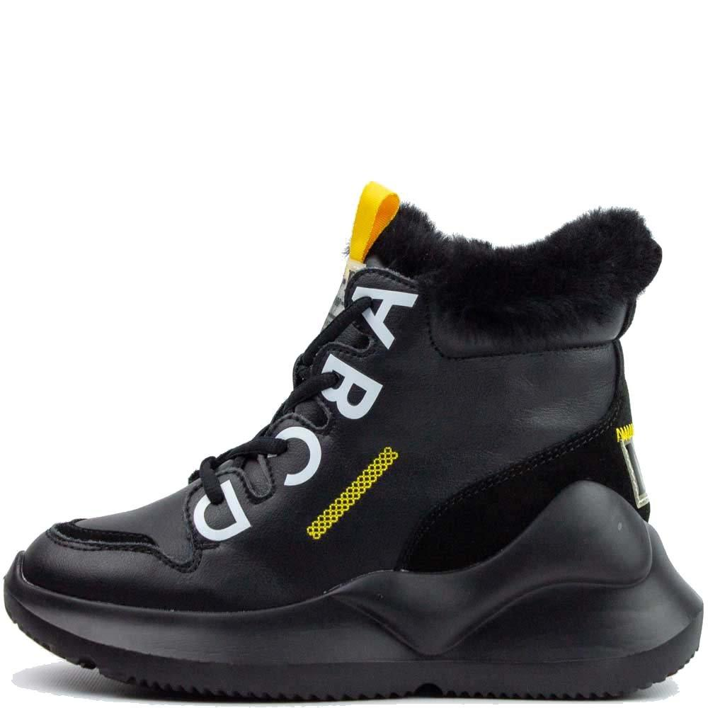 Черевики зимові Allshoes 120 HS 559674 Full Чорні