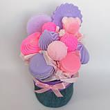 Мило букет мильних солодощів квіткова композиція з мила ручної роботи мильний букет подарунок на 8 березня, фото 3