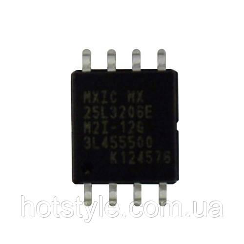 Чип MX25L3206E 25L3206E SOP8, CMOS SERIAL FLASH 32Мбит, 102695