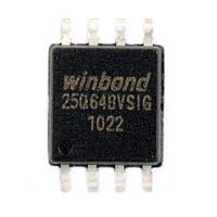 Чип W25Q64 W25Q64BVSIG SOP8, 64Мб Flash SPI, 102626
