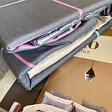 Постельное белье Евро комплект с простыню на резинке Постельное белье с фланели евро размер., фото 4