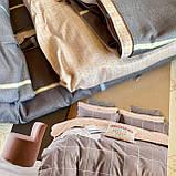 Постельное белье Евро комплект с простыню на резинке Постельное белье с фланели евро размер., фото 5