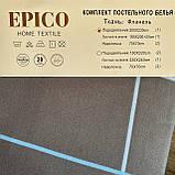Постельное белье Евро комплект с простыню на резинке Постельное белье с фланели евро размер., фото 6