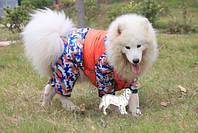 """Зимний комбинезон для собак крупных пород """"Камуфляж 2"""". Одежда для собак."""