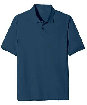 Футболка поло однотонна чоловіча, колір синій