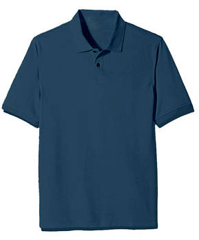 Футболка поло однотонная мужская, цвет синий