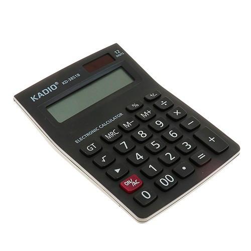 Калькулятор настільний офісний 15х10см 12-розрядний KADIO KD-3851B