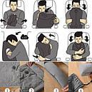 Подушка обнимательная надувна літакова для подорожей, літака, фото 2