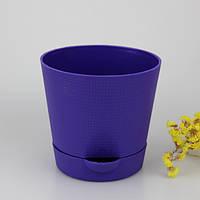 Горшок Фиалка Люкс 0,7 л фиолетовый