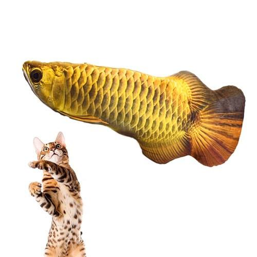 М'яка іграшка риба Арована 19см для кішок кота з котячою м'ятою, 105146