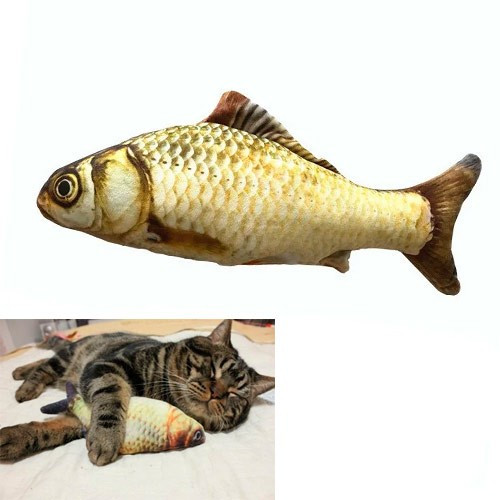 М'яка іграшка риба Короп 20см для кішок кота з котячою м'ятою