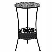 Садовий металевий столик, барний 40см