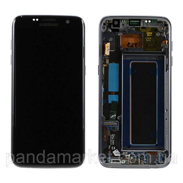 Дисплей модуль Samsung SM-G935F Galaxy S7 Edge Черный (с рамкой) Оригинал (Сервисный)