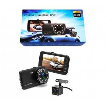 Видеорегистратор с выносной камерой заднего вида T-805 Dvr 1080 Full HD