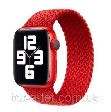 Ремешок (тканевый моно браслет) Armorstandart Braided Solo Loop для Apple Watch 42mm/44mm Red Size 8 (160 mm)