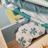 Постельное белье Евро комплект с простыню на резинке Постельное белье с фланели евро размер., фото 2