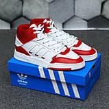 Чоловічі кросівки Adidas Drop Step high (white/red) Репліка ААА, фото 4