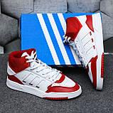 Чоловічі кросівки Adidas Drop Step high (white/red) Репліка ААА, фото 5