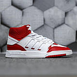 Чоловічі кросівки Adidas Drop Step high (white/red) Репліка ААА, фото 2