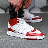 Чоловічі кросівки Adidas Drop Step high (white/red) Репліка ААА, фото 3