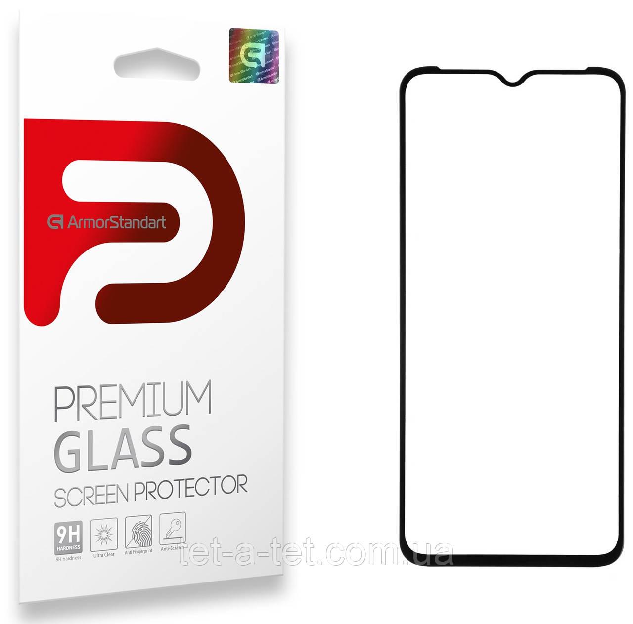 Защитное стекло Armorstandart Full Glue для TECNO Spark 6 Go (KE5) Black (premium glass)