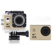 Водонепроницаемая спортивная экшн камера F60 Золотая