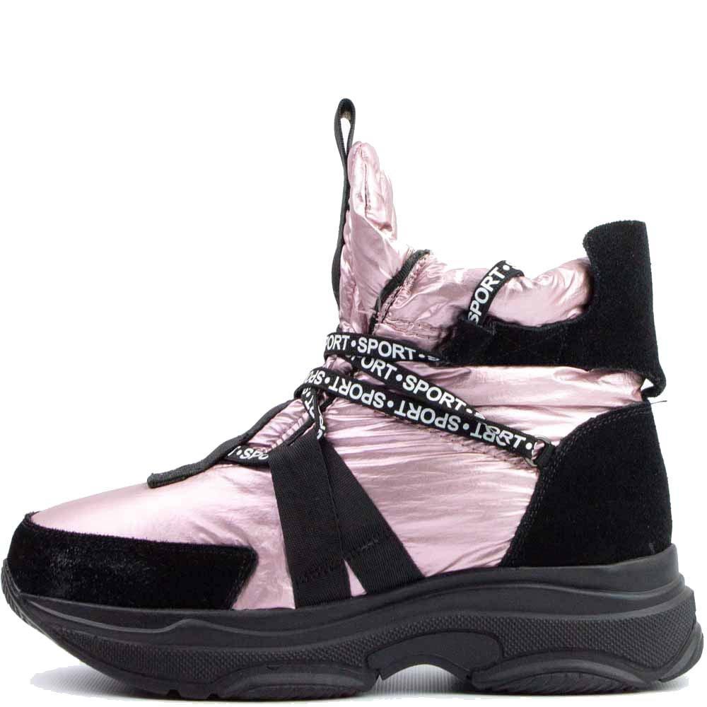 Кроссовки зимние Allshoes 6790-S 559841 Розовые