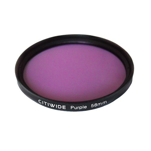 Цветной фильтр 58мм фиолетовый, CITIWIDE, 104254