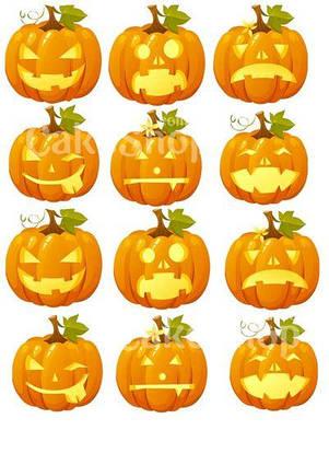 Вафельная картинка для капкейков Хеллоуин 4