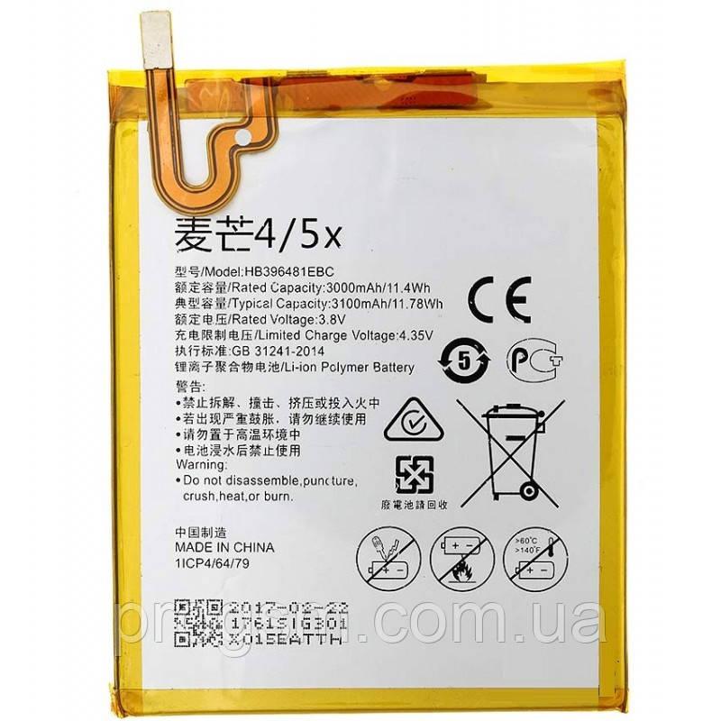 Аккумулятор Huawei Y6 Ii Cam-L21, Honor 5X, Honor 6 H60-L02, Hb396481Ebc (3100Mah)