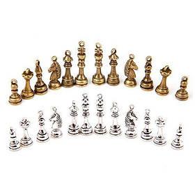 Набор из 48 металлических подвесок шармов шармиков, шахматы, серебро