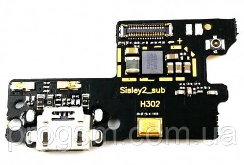 Разъем Зарядки Lenovo Vibe S1 (S1A40) (С Платкой)